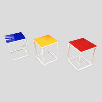 SQUARE TABLES W/B WITH DOUBLE FACE TOP